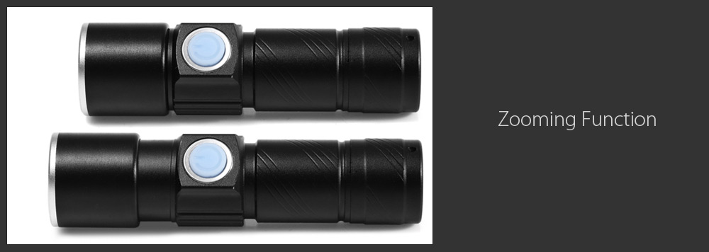 XD - Z501 Cree XPE 350Lm USB Rechargeable Zooming LED Flashlight