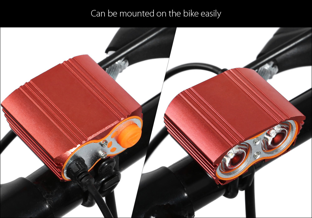 XX2 2 x Cree T6 2000LM LED Bicycle Light USB Power