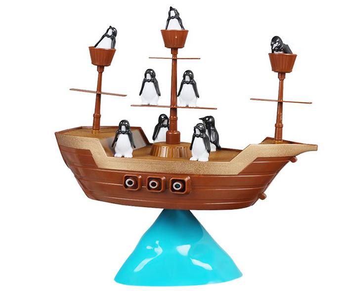 Funny Penguin Boat Balancing Game Family Child Interactive Fun Toy