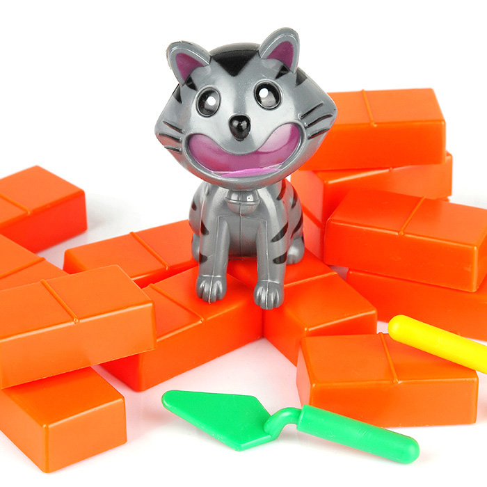 Funny Wall Demolish Cat Game Family Child Interactive Fun Desktop Toy