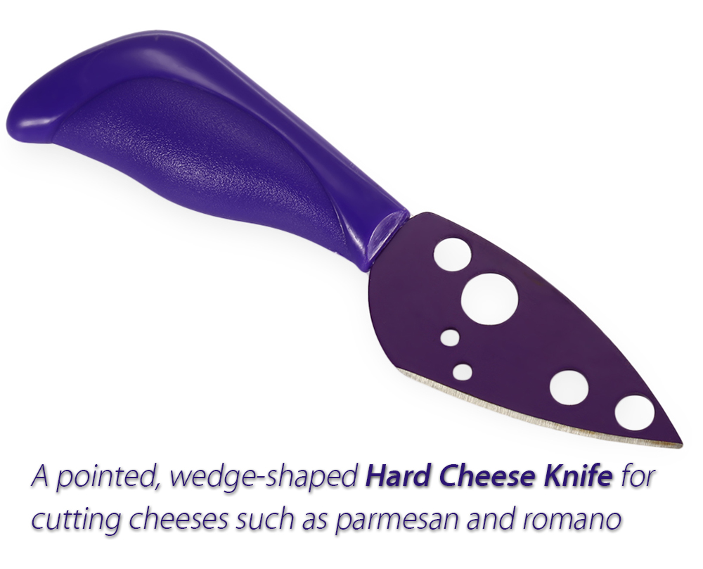 5pcs Happy Face Cheese Knife Set with Different Colors