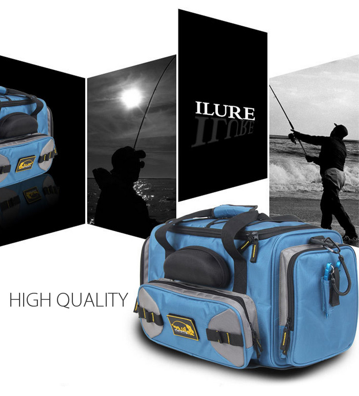ILURE BP016 Large Fish Tackles Bag Boat Fishing Accessories with Sunglasses Box