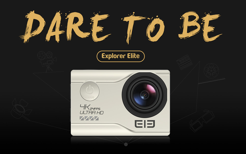 Elephone EleCam Explorer Elite 4K WiFi Action Sport Camera 170 Degrees FOV 2.0 inch LCD Display
