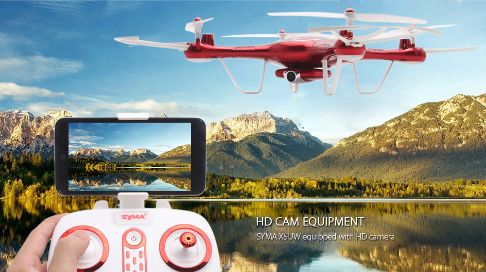 SYMA X5UW WiFi FPV Control HD CAM 2.4G 4CH 6-axis-gyro RC Quadcopter Air Press Height Hold