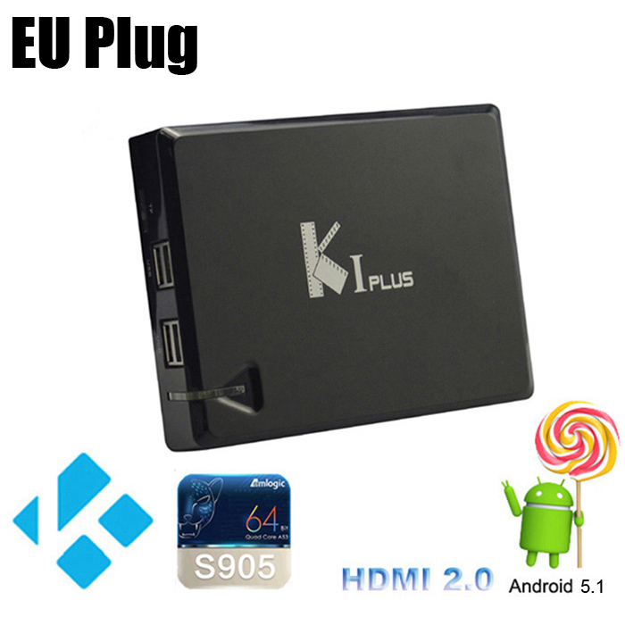 K1 Plus TV Box Amlogic S905 Quad Core Android 5.1 2.4G WiFi HDMI 2.0 1G 8G