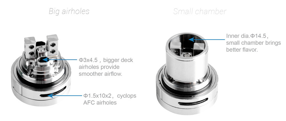 Original Ehpro Billow V2.5 RTA 6ml E Cigarette Rebuildable Tank Atomizer with Juice Flow Control / Two-post Deck / Top Refilling System