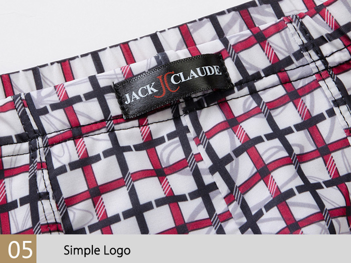 Jack Claude Printing Ice Silk Mid-waist U Convex Pouch Boxers for Men