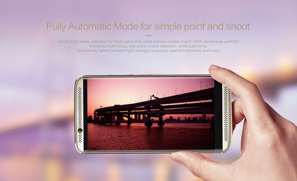 ZTE AXON 7 Android 6.0 5.5 inch 4G Phablet MSM8996 Quad Core 2GHz 4GB RAM 64GB ROM HiFi Fingerprint Scanner Bluetooth 4.1 NFC