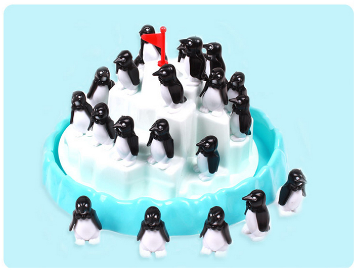 Funny Penguin Pile Up Stacking Game Family Child Interactive Fun Desktop Toy