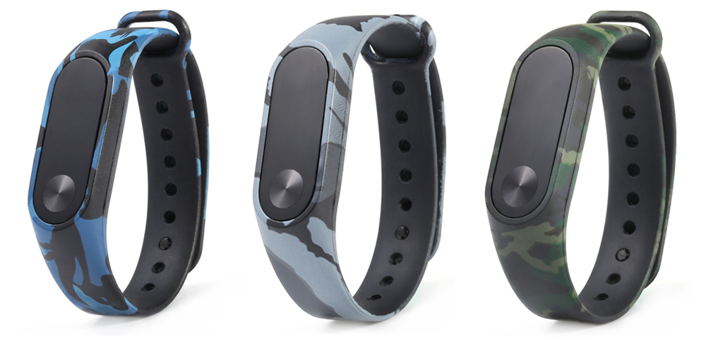 camouflage pattern watch strap for xiaomi mi band 2   1 98