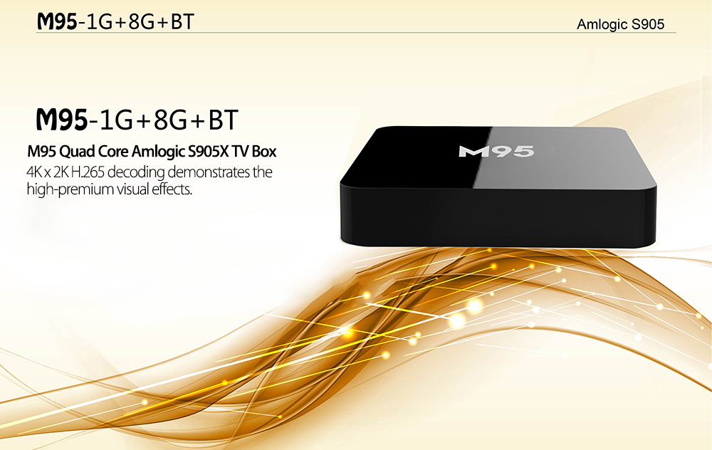 M95 Amlogic S905X Quad Core Set-top Box 4K x 2K H.265 2.4G WiFi Android 5.1 1G DDR3 RAM 8G eMMC ROM HD 2.0