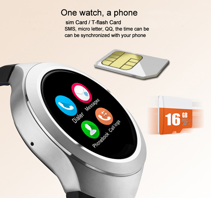 TenFifteen L6S 1.22 inch Smartwatch Phone MTK6261 Pedometer Sedentary Remind Anti-lost  Gravity Sensor
