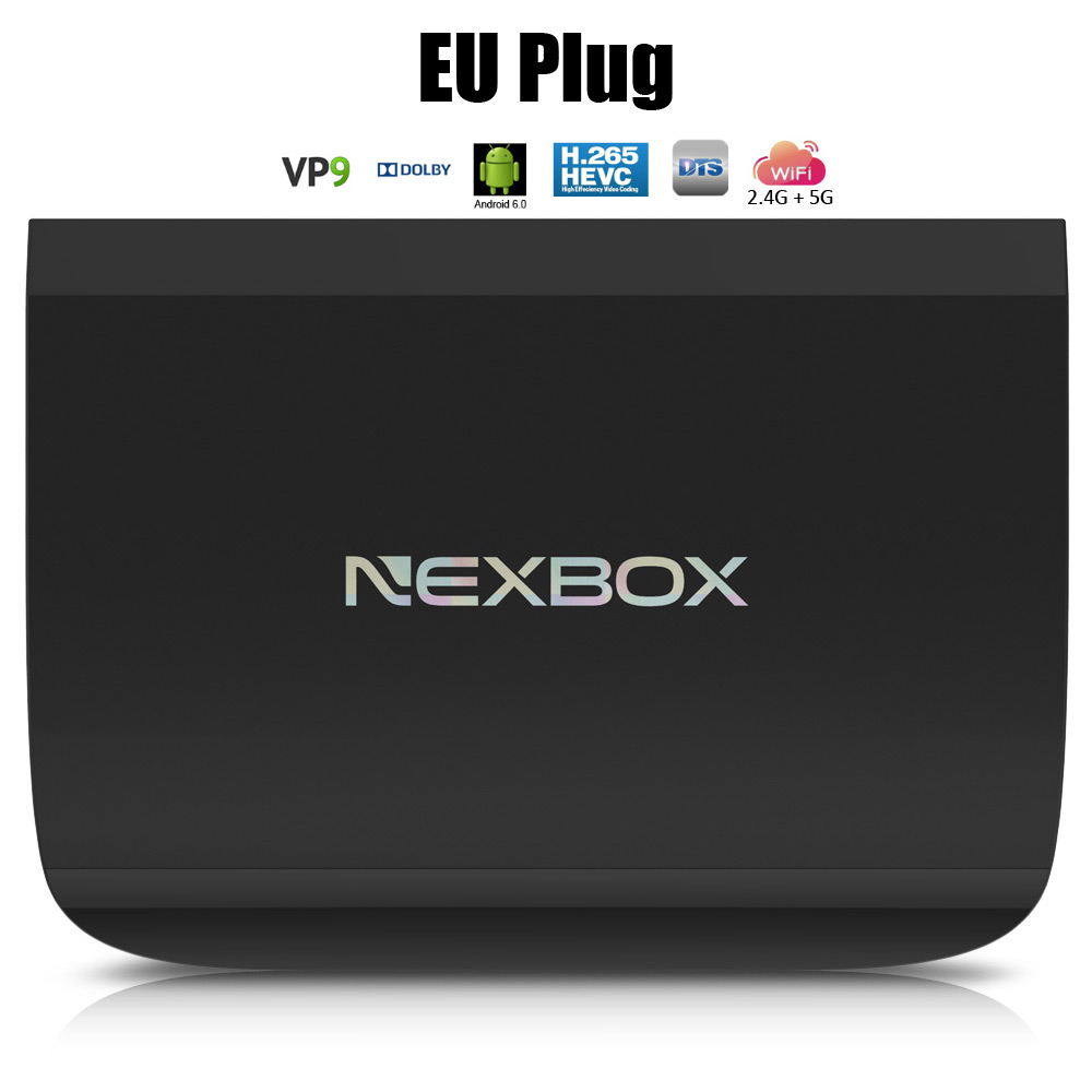 NEXBOX A1 Set-top Box Octa Core Amlogic S912 2.4G + 5G Dual WiFi 4K x 2K H.265 Decoding Android Mini PC