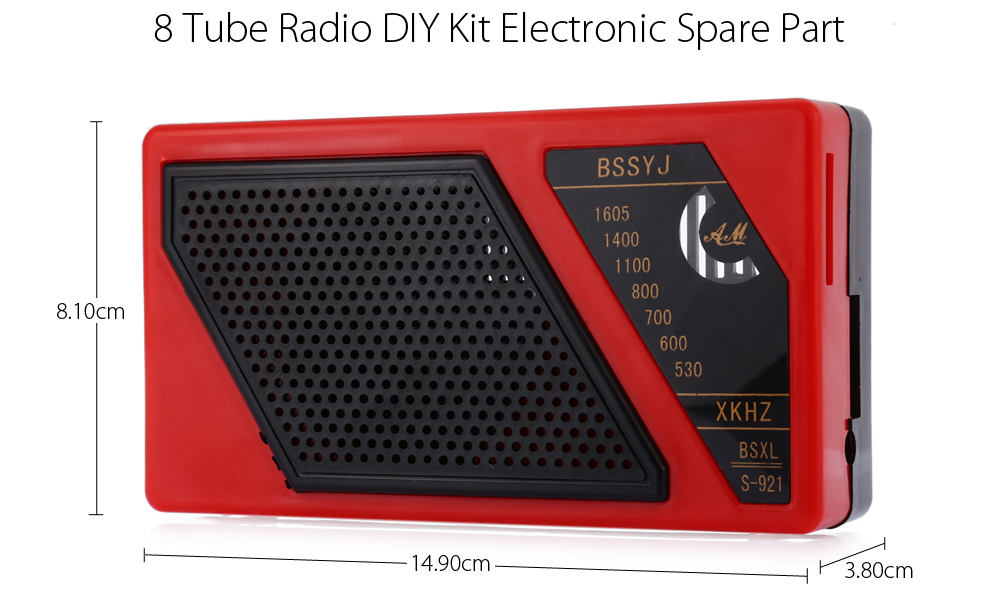 8 Tube Radio DIY Kit Electronic Spare Part-7.99 and Free ...