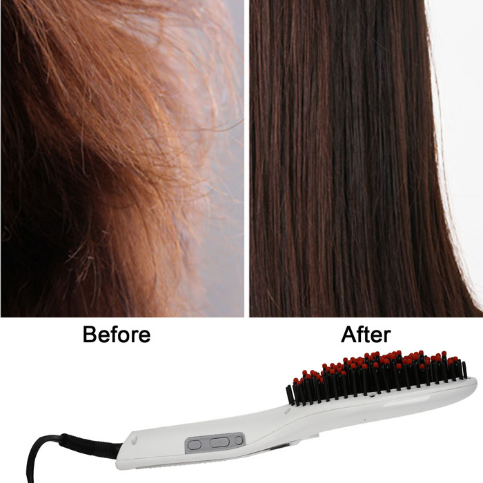 Electric Hair Straightener Massage Comb with Anion Care