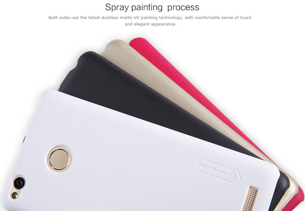 Nillkin Frosted Style PC Hard Protective Cover Case with Screen Film for Xiaomi Redmi 3 Pro