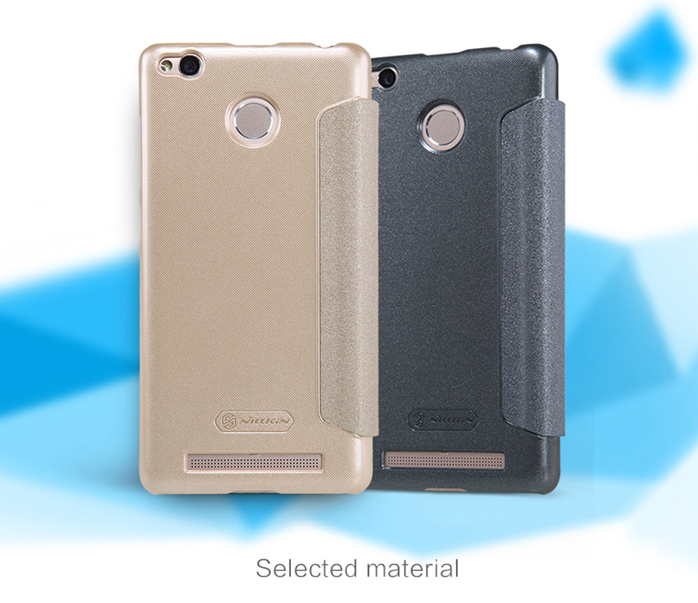 Nillkin Full Body Cover Protective Case for Xiaomi Redmi 3 Pro Ultra-thin PU Leather Mobile Shell