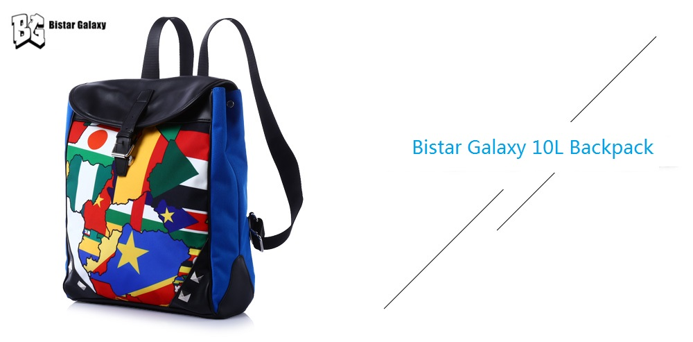 Bistar Galaxy 10L Unisex Print Water-resistant PU College Style Backpack