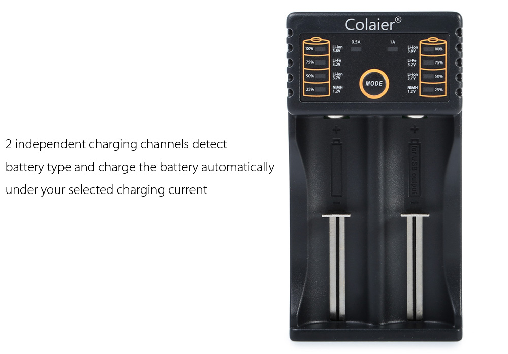 Colaier C20 2 Slots Universal USB Battery Charger Protection Circuit