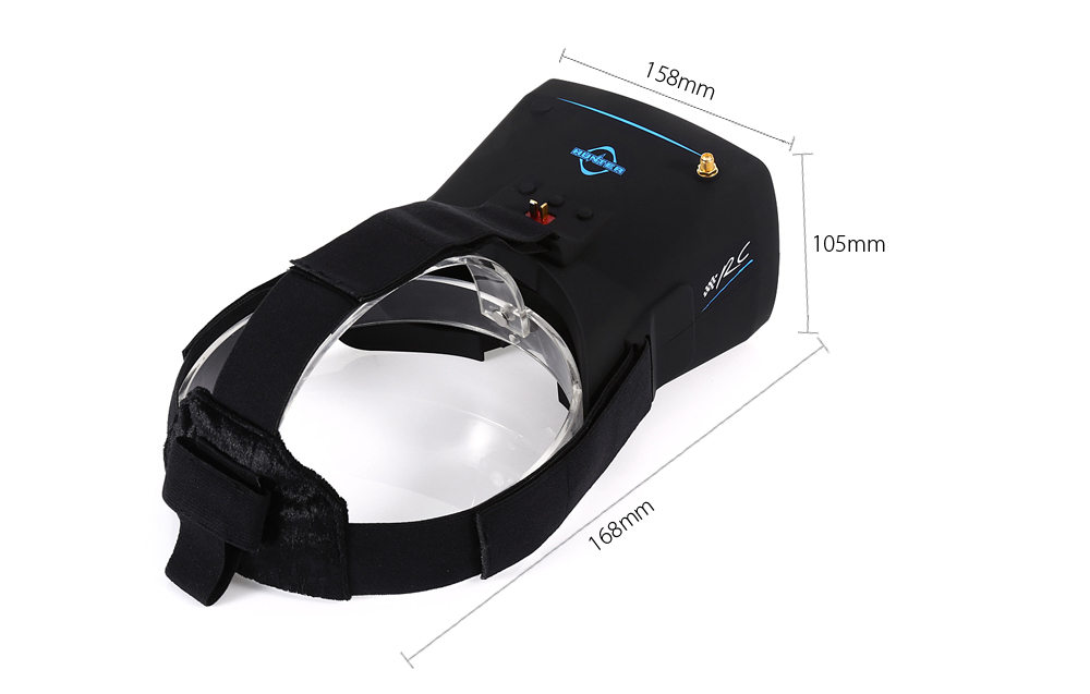 HUNTER Goggles 40CH 5.8G Wireless 800 x 600 FPV Headset Goggles with 5 inch Monitor