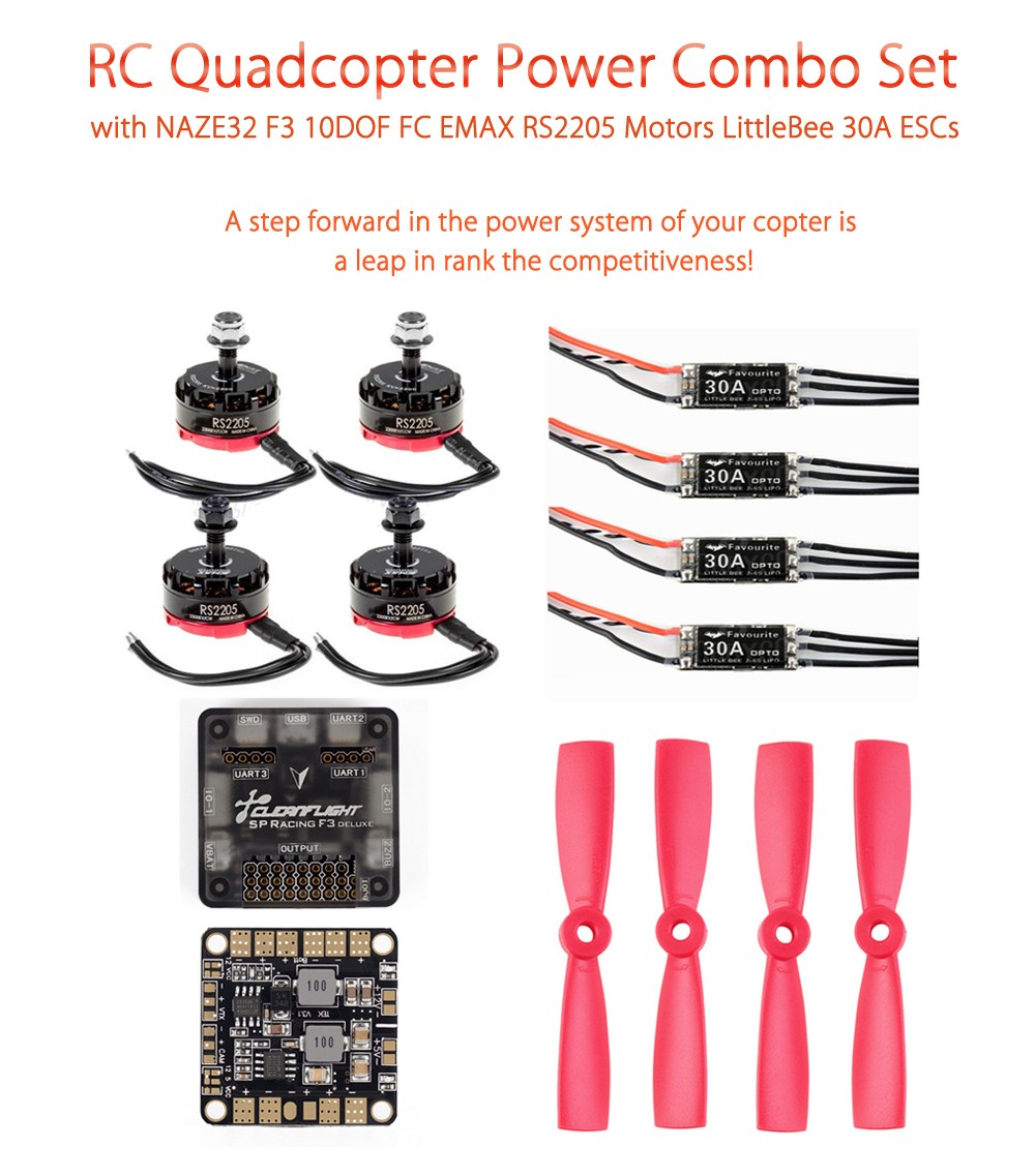 RC Quadcopter Power Combo with 10DOF EMAX RS2205 LittleBee 30A ESCs