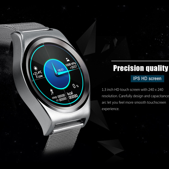 X10 Bluetooth 4.0 Stainless Steel Strap Smart Wristband Watch Anti-lost Pedometer Sedentary Reminder