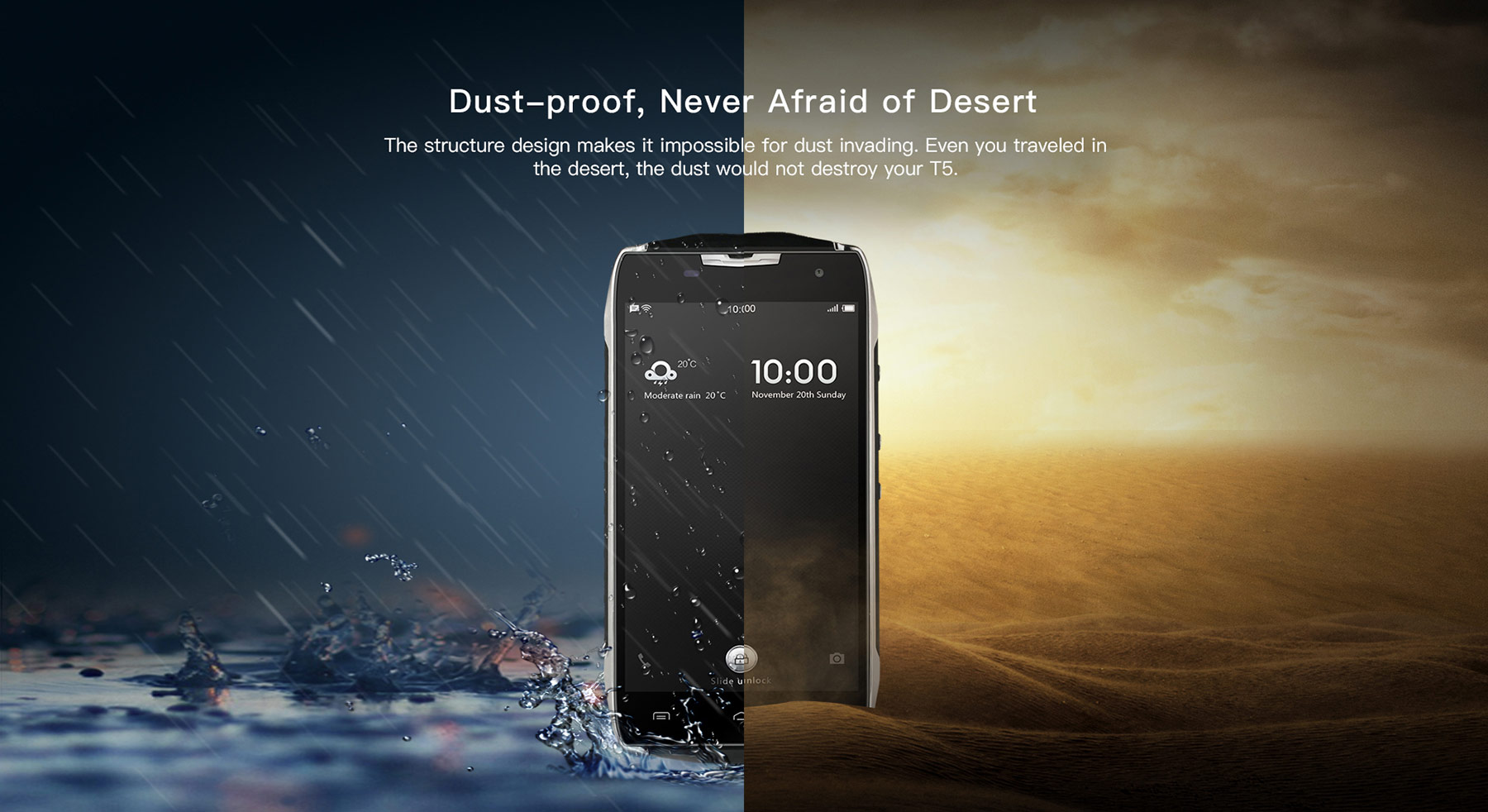 Doogee T5 Android 6.0 5.0 inch 4G Smartphone MTK6753 Octa Core 1.3GHz 3GB RAM 32GB ROM Waterproof Dustproof 13.0MP Rear Camera GPS