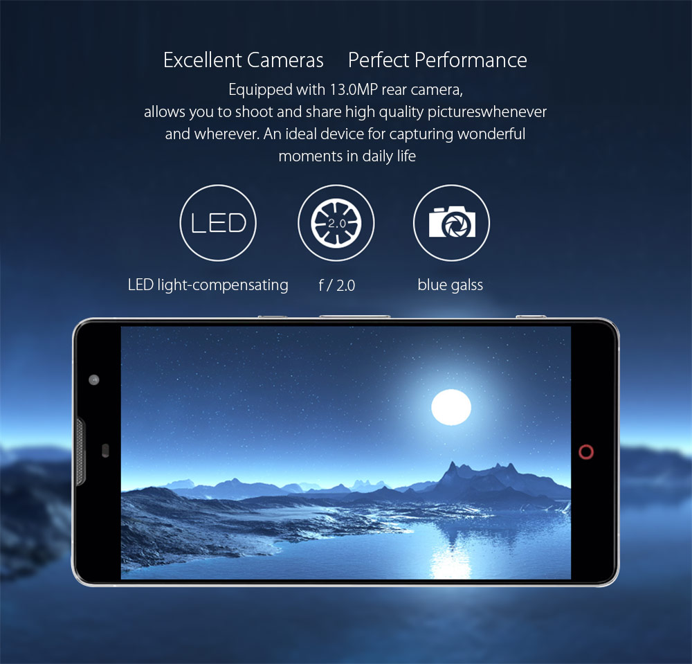 5.5 inch Nubia Z7 MAX Android 5.1 4G Phablet with MSM8974 2.5GHz Quad Core 2GB RAM 32GB ROM WiFi GPS NFC Gesture Sensing FHD IPS Screen