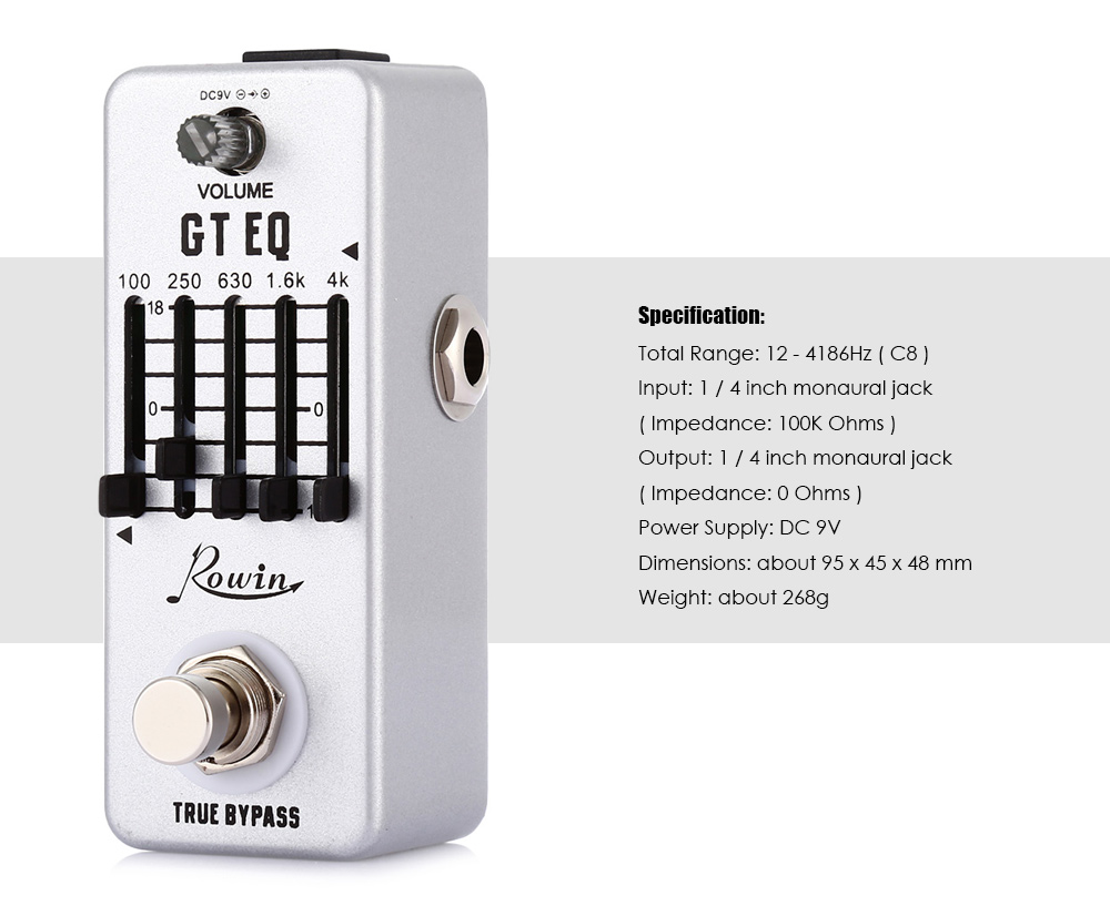 ROWIN LEF - 317A GT EQ Guitar Equalizer Micro Effect Pedal Musical Instrument Accessory