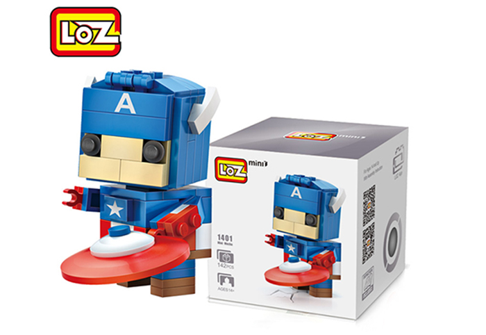 LOZ ABS Hero Style Building Block Educational Cartoon Movie Product Kid Toy - 142pcs