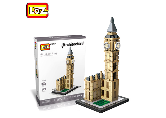 LOZ Elizabeth Tower Model ABS Architecture Assembly Decoration Toy