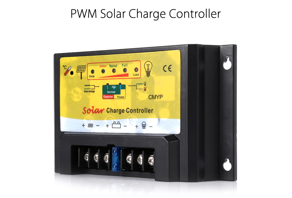 UEIUA CMYP - 2420 20A 12V / 24V PWM Solar Charge Controller Reverse Current Protection Monitor