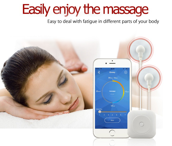 Multi-functional Smart Portable APP Control Mini Electric Massager with 7 Massage Modes
