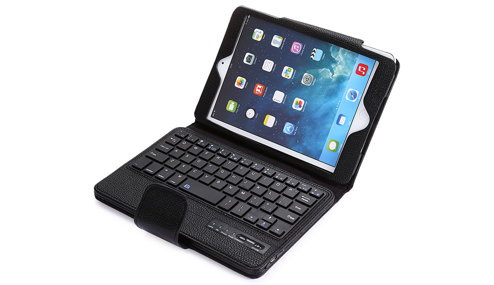 2 in 1 Bluetooth 3.0 Keyboard PU Leather Protective Full-body Case for iPad Mini 1 / 2 / 3 with Stand Holder