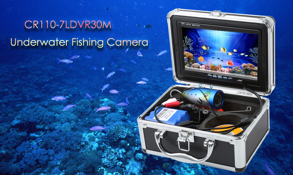 CR110 - 7LDVR30M 7 inches LCD Screen Underwater Fishing Camera with 30m Cable