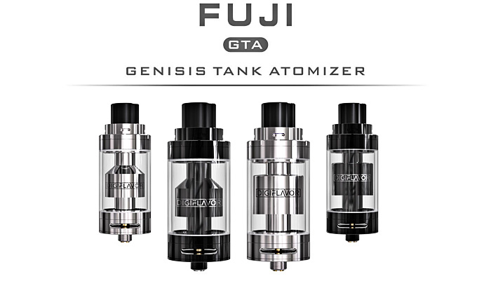 Original Digiflavor Fuji GTA - Single Coil Version RTA Rebuildable Tank Atomizer E Cigarette with Smooth Liquid Flow / Purer Flavor -  6ml