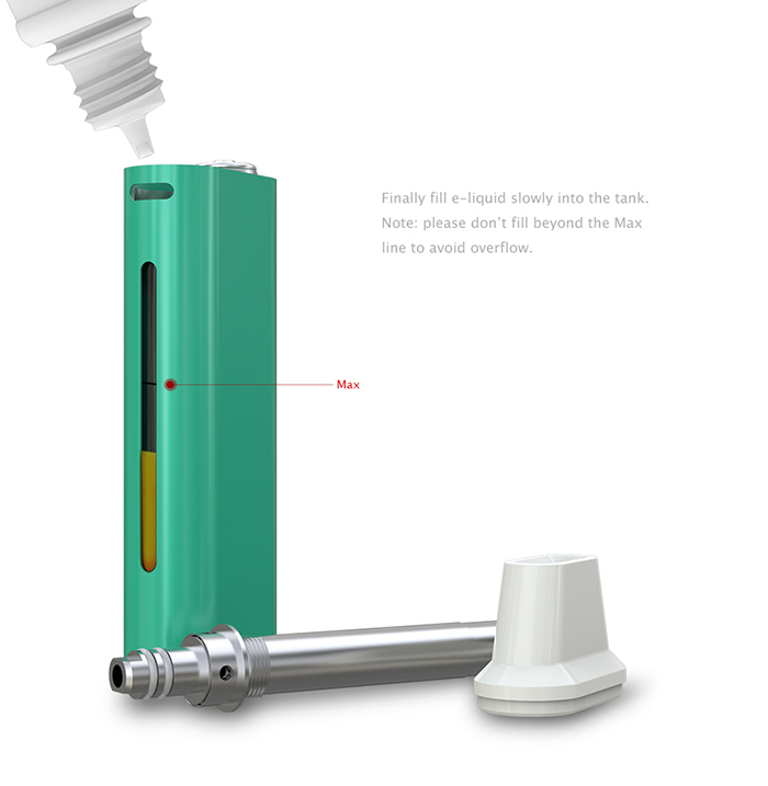 Authentic Eleaf iCare E Cigarette Starter Kit with Built-in 650mAh Battery / 1.8ml Top Filling Atomizer