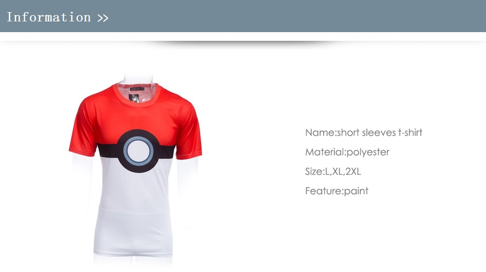 Splicing Color Cartoon Print Cotton Male Short Sleeves T-shirt
