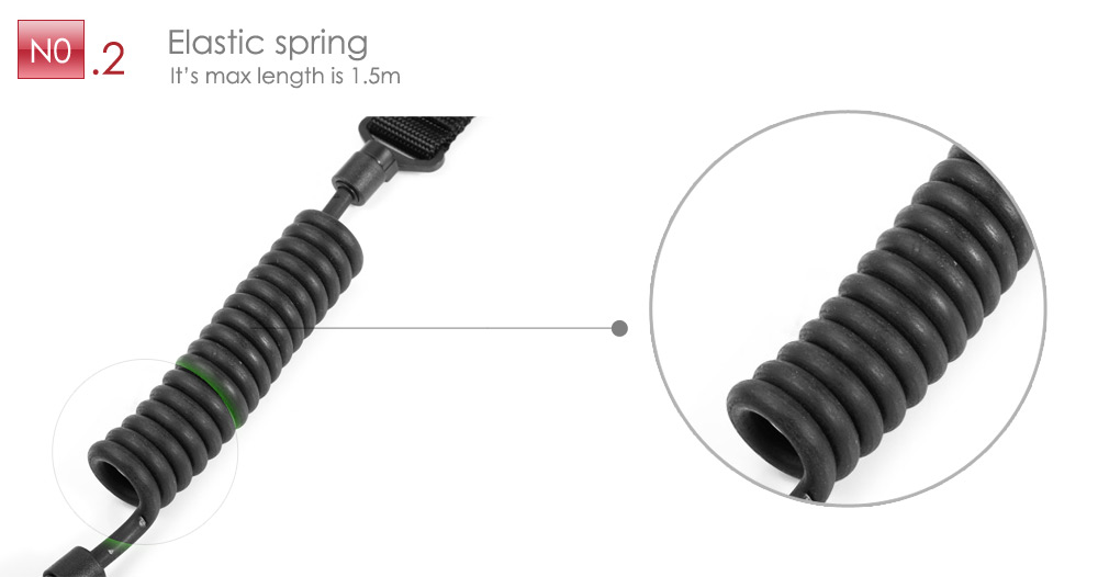 Outdoor Survival Elastic Spring Tactical Sling with Lanyard