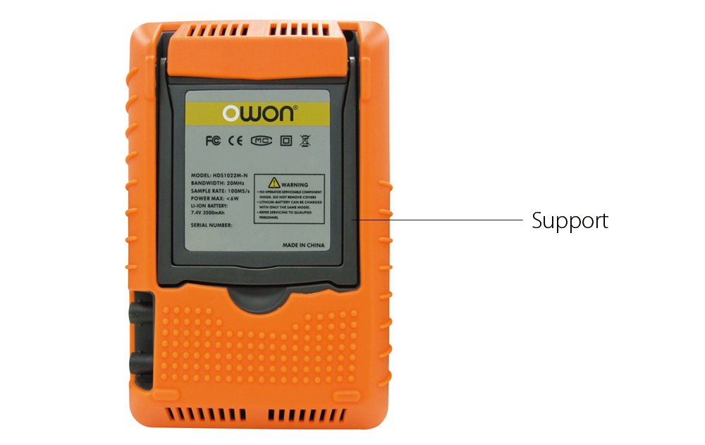 OWON HDS2062M - N 60MHz 1GS/s Portable Oscilloscope with Multimeter Function