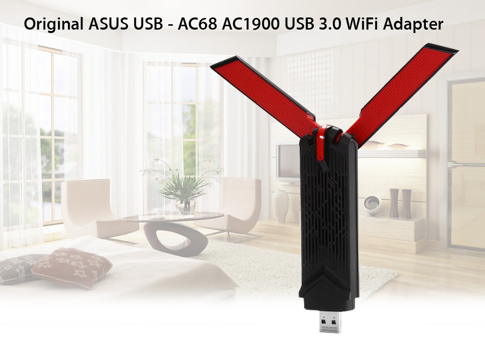 Original ASUS USB - AC68 11AC 1900Mbps Wireless USB 3.0 Adapter Dual Band 2.4GHz / 5.0GHz