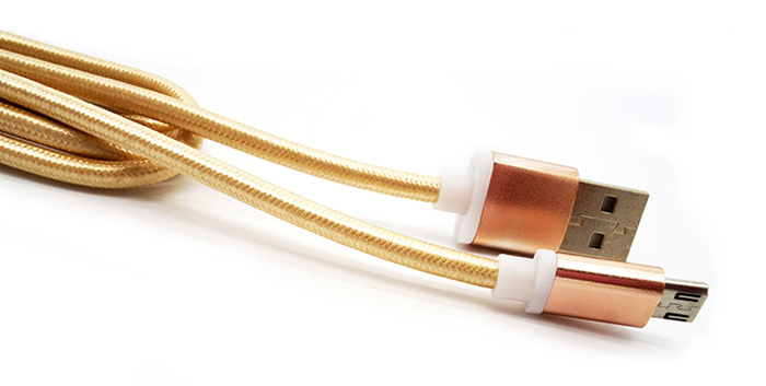 1m Micro USB Interface Charge and Sync Cable of Woven Cable Design
