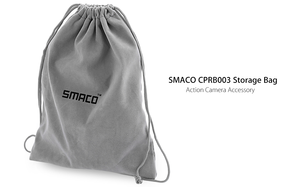 SMACO CPRB003 High-end Charpie Storage Bag for Universal Action Camera