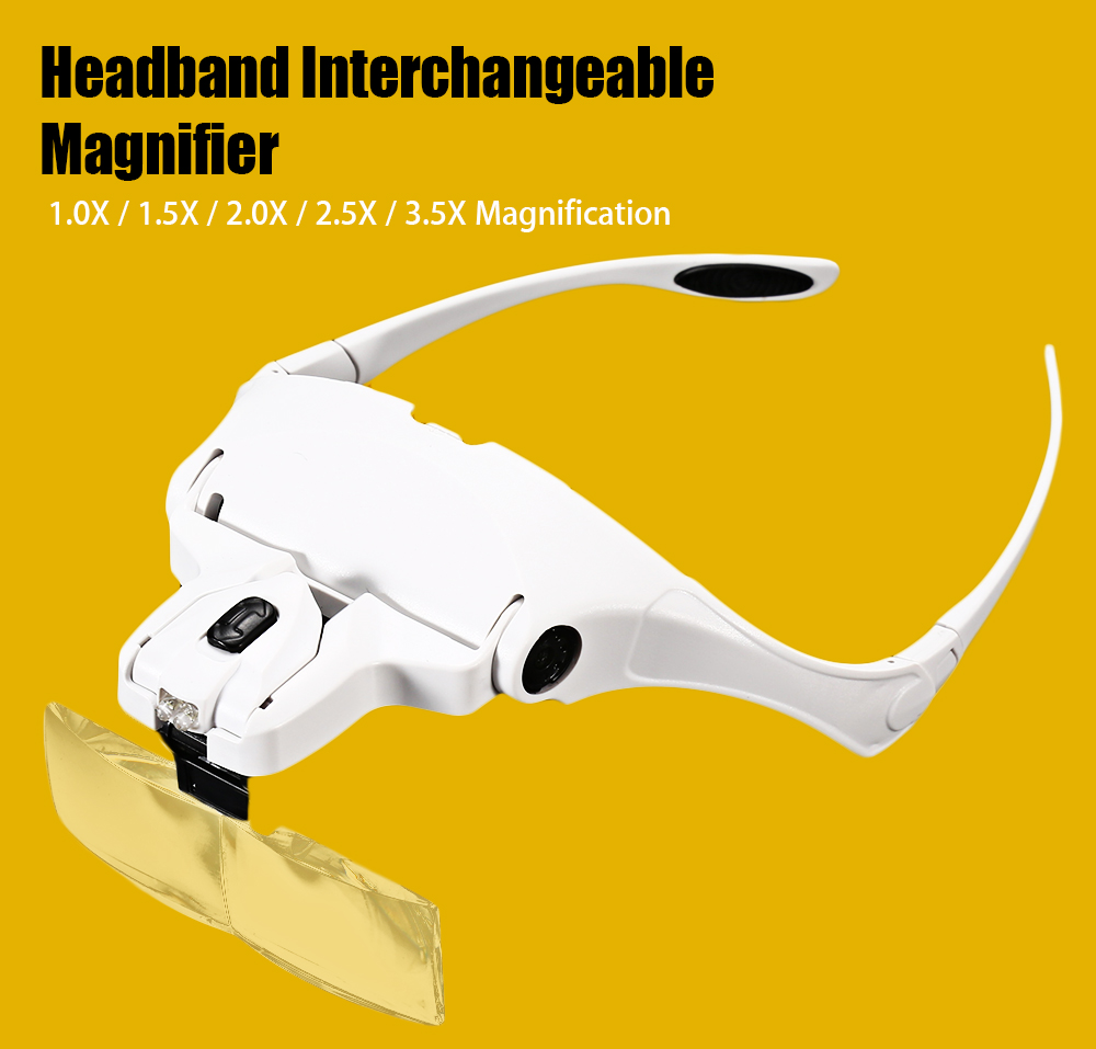 Head Magnifier with Bracket / Headband / Interchangeable Lenses