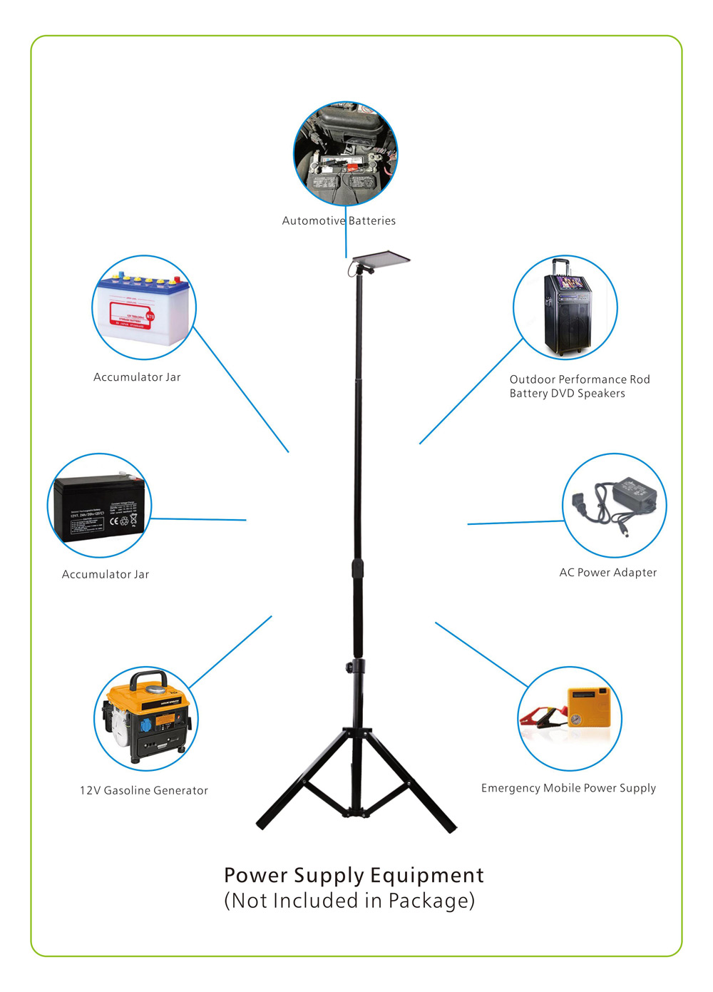 84 LEDs Portable Telescopic Rod Camping Light for Outdoor Sports