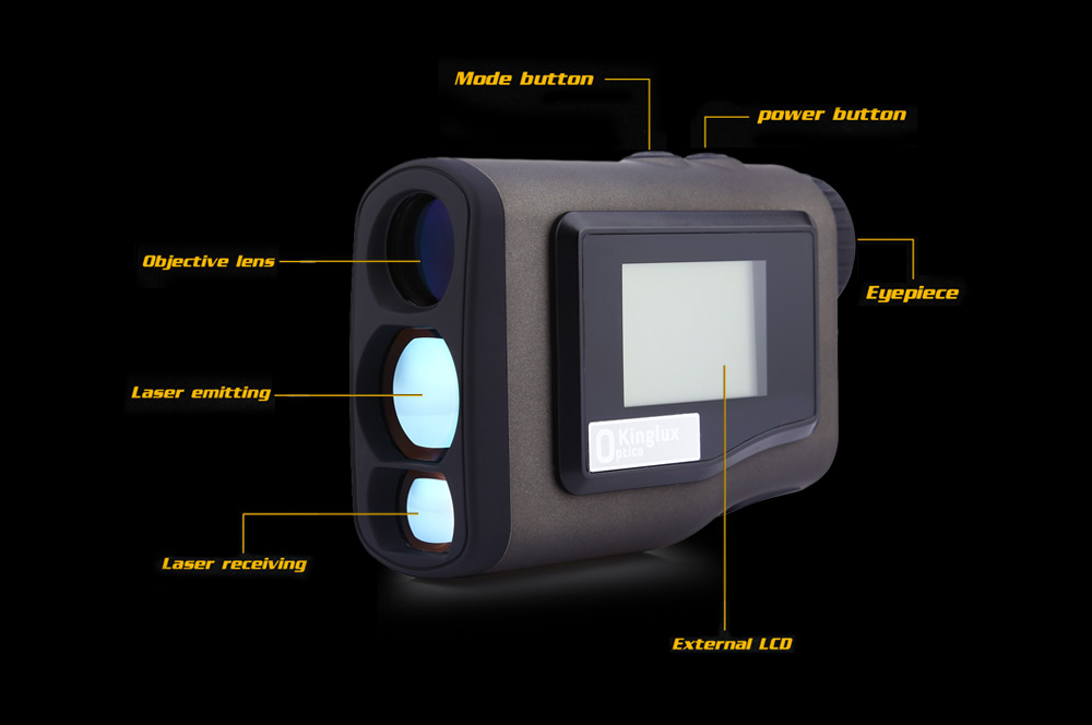 Kinglux Mini Golf Laser Rangefinder Telescope with HD LCD Screen