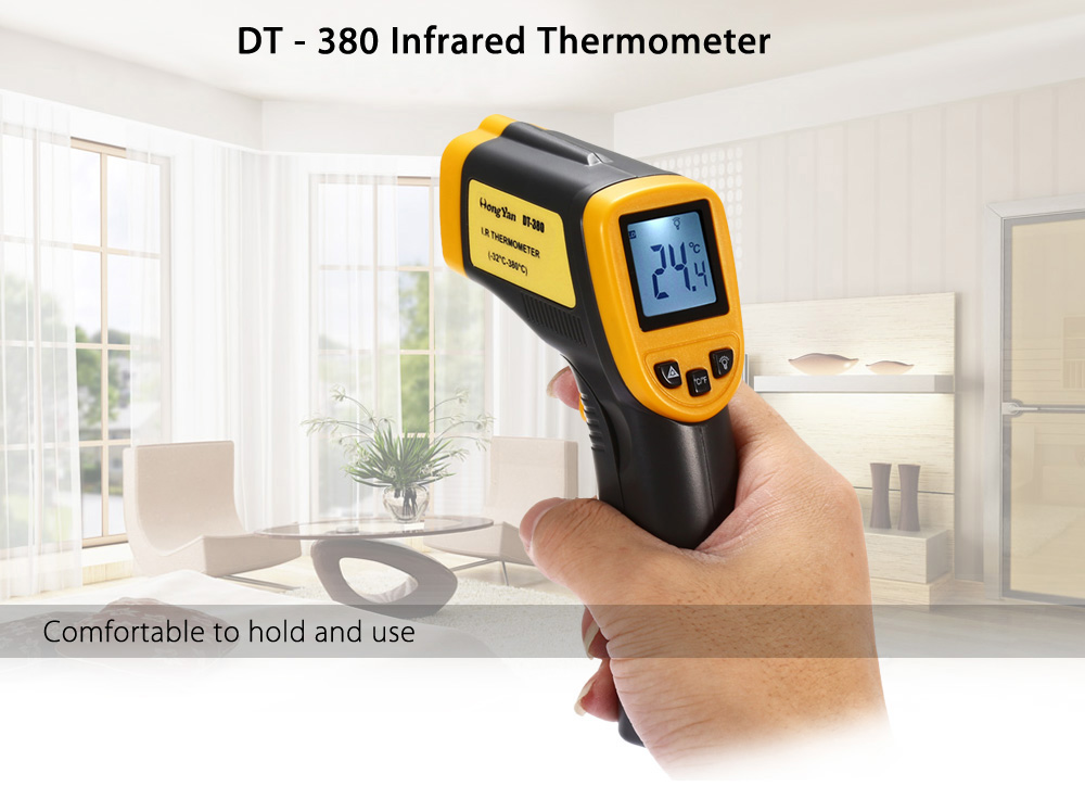 HongYan DT - 380 Handhold Digital Infrared Thermometer Measuring Device