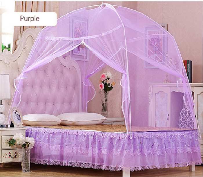 Elegant Lace Mosquito Net Round Dome Bedding for 1.5m Bed