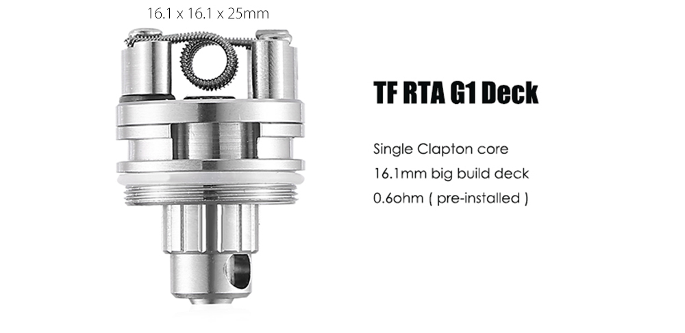 Original Smok TF RTA G1 Deck with 16.1mm Big Build Deck E Cigarette Atomizer Heater Core