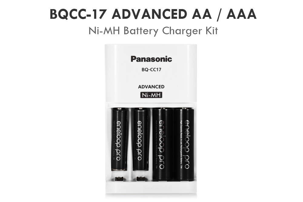 BQCC - 17 Ni-MH Battery Charger with BK - 3HCCA BK - 4HCCA Rechargeable Batteries
